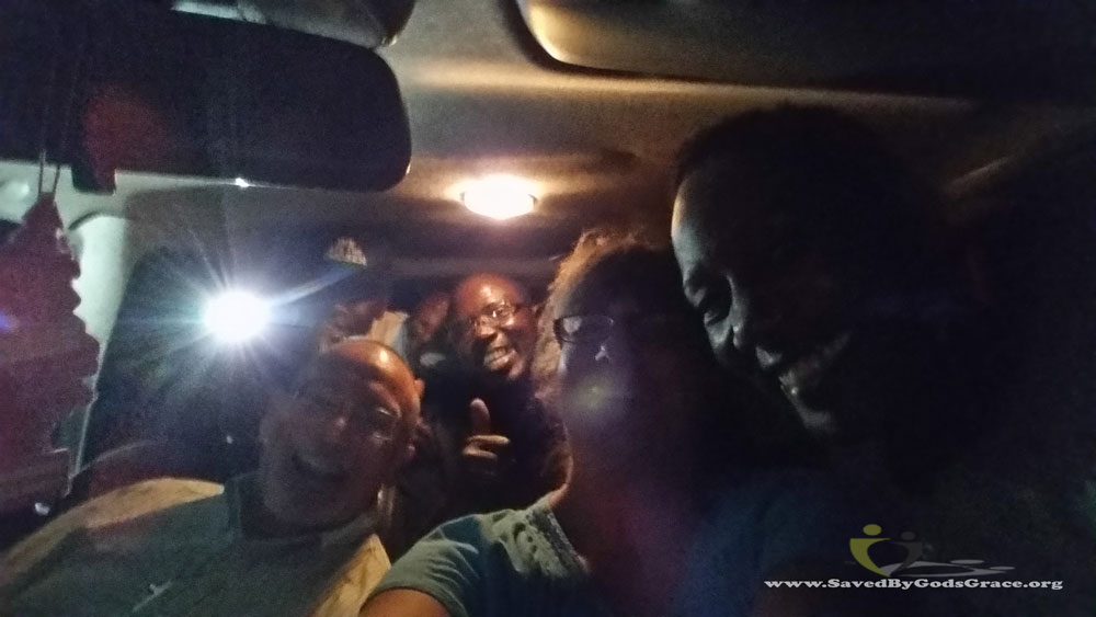dinner-at-bishops-piling-into-truck-matatu-style